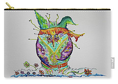 Mr. Hippy Peace Owl Carry-all Pouch