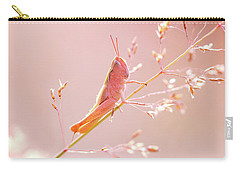 Mr Pink - Pink Grassshopper Carry-all Pouch by Roeselien Raimond