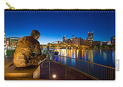 Carry-all Pouch featuring the photograph Mr Rogers Statue 3 by Emmanuel Panagiotakis