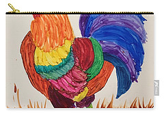 Carry-all Pouch featuring the painting Mr Rooster by Suzanne Canner