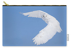 Mr Snowy Owl Carry-all Pouch by Mircea Costina Photography