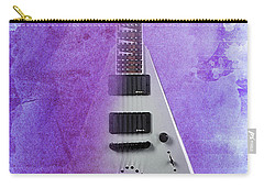 Dr House Inspirational Quote And Electric Guitar Purple Vintage Poster For Musicians And Trekkers Carry-all Pouch