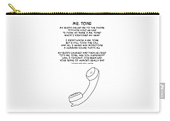 Carry-all Pouch featuring the drawing Mr Tone by John Haldane