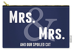 Mrs And Mrs And Cat- Blue Carry-all Pouch