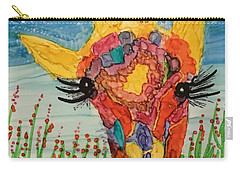 Carry-all Pouch featuring the painting Mrs Giraffe by Suzanne Canner