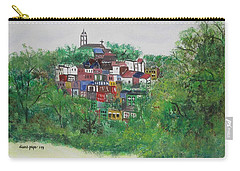 Carry-all Pouch featuring the painting Mt. Adams  Cincinnati Ohio by Diane Pape