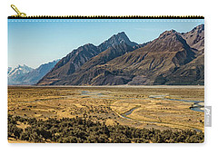 Carry-all Pouch featuring the photograph Mt Cook And Tasman River  by Gary Eason