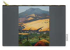 Carry-all Pouch featuring the painting Mt. Diablo Above by Gary Coleman