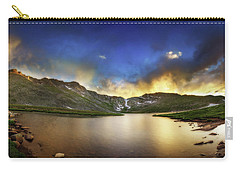 Carry-all Pouch featuring the photograph Mt. Evens Summit Lake Sunset by Chris Bordeleau