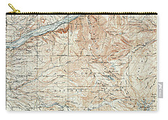 Mt. Hood And Environs Topographic Map  1911 Carry-all Pouch by Daniel Hagerman