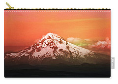 Carry-all Pouch featuring the photograph Mt Hood Oregon Sunset by Aaron Berg