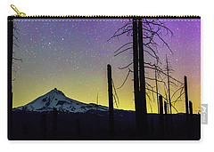 Carry-all Pouch featuring the photograph Mt. Jefferson Bathed In Auroral Light by Cat Connor