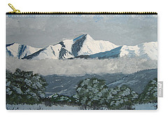 Carry-all Pouch featuring the painting Mt Princeton Co by Norm Starks