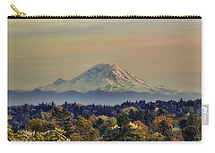 Mt Rainer Fall Color Rising Carry-all Pouch by James Heckt