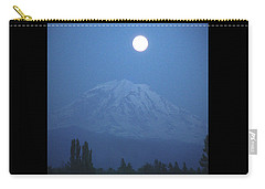 Mt Rainier Full Moon Carry-all Pouch