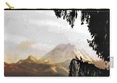 Carry-all Pouch featuring the photograph Mt. Rainier In Lace by Sadie Reneau