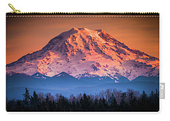 Mt. Rainier Sunset Carry-all Pouch