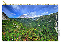 Mt. Rainier Through The Clouds  Carry-all Pouch