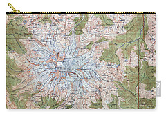 Mt. Rainier Topographic Map 1915 Carry-all Pouch by Daniel Hagerman