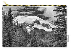 Carry-all Pouch featuring the photograph Mt Rainier View - Bw by Stephen Stookey