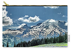 Mt. Rainier Wildflowers Near Sunrise Point Carry-all Pouch by Ansel Price