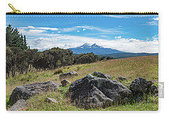 Carry-all Pouch featuring the photograph Mt Ruapehu View by Gary Eason