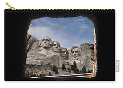 Carry-all Pouch featuring the photograph Mt Rushmore Tunnel by David Lawson