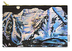 Mt. Timpanogos Under A Full Moon Carry-all Pouch