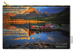 Carry-all Pouch featuring the photograph Mt. Wilbur And Swiftcurrent Lake Morning by Craig J Satterlee