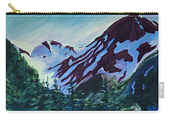Carry-all Pouch featuring the painting Mt.roberts Juneau Alaska by Yulia Kazansky