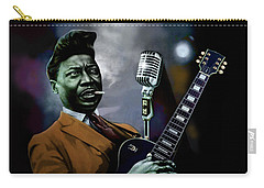 Carry-all Pouch featuring the mixed media Muddy Waters - Mick Jagger's Grandfather by Dan Haraga