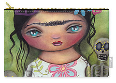 Muertos Fest Carry-all Pouch by Abril Andrade Griffith