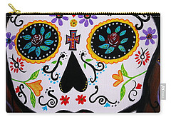 Carry-all Pouch featuring the painting Muertos by Pristine Cartera Turkus