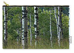 Carry-all Pouch featuring the photograph Mug - Aspen Trees by Inge Riis McDonald