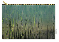 Carry-all Pouch featuring the photograph Mug - Lake Grass by Inge Riis McDonald