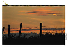 Carry-all Pouch featuring the photograph Mug - Prairie Sunset by Inge Riis McDonald