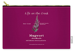 Mugwort - White Text Carry-all Pouch