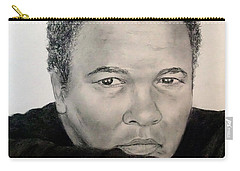 Carry-all Pouch featuring the drawing Muhammad Ali Formerly Known As Cassius Clay by Jim Fitzpatrick