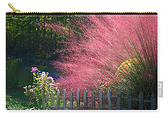 Carry-all Pouch featuring the photograph Muhly Grass by Kathryn Meyer