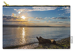 Mukilteo Beach Carry-all Pouch by Ed Clark
