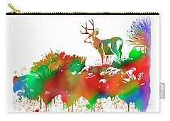 Mule Deer Buck Skyline Drip Pop Art II Carry-all Pouch