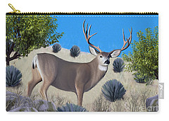 Mule Deer Trophy Buck Carry-all Pouch by Walter Colvin
