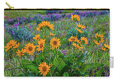 Mule's Ear And Lupine Carry-all Pouch