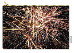 Carry-all Pouch featuring the photograph Multi Blast Fireworks #0721 by Barbara Tristan