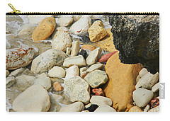 multi colored Beach rocks Carry-all Pouch by Expressionistart studio Priscilla Batzell