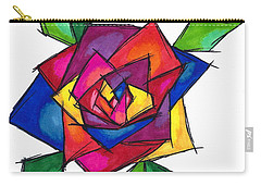 Multi Rose Carry-all Pouch