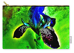 Carry-all Pouch featuring the photograph Multicolor Iris by Marsha Heiken