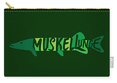 Multicolored Muskellunge Carry-all Pouch
