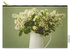 Multiflora Rose In A Rustic Vase Carry-all Pouch by Diane Diederich
