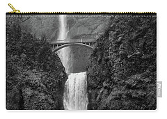 Multnomah Falls - Black And White Carry-all Pouch by Scott Cameron
